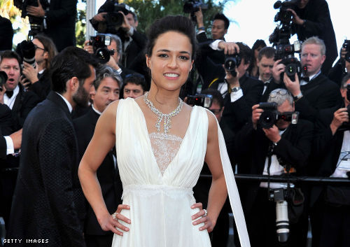 """Michelle Rodriguez at the """"Killing Them Softly"""" premier at Cannes"""