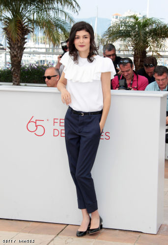"""French actress Audrey Tautou poses during the photocall of """"Therese Desqueyroux"""" presented out of competition at the 65th Cannes film festival"""