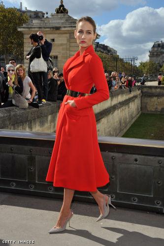 Leelee Sobieski arrives at the Christian Dior Spring / Summer 2013 show as part of Paris Fashion Week