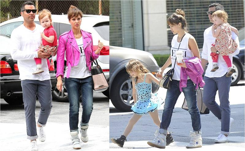 Jessica Alba in Level 99 Relaxed Lilys in Darin