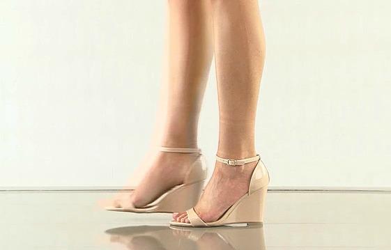 Promise Nude Wedge Sandal