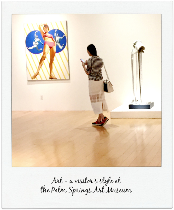 Art + a visitor's style at  the Palm Springs Art Museum