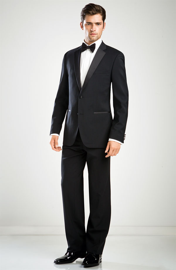 BOSS Black 'The Stars Glamour' Trim Fit Super 100s Wool Tuxedo, and all the black tie fixings at Nordstrom's