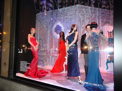 Sak's Fifth Avenue New York Holiday Windows- red carpet theme