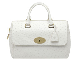 The Del Rey, pictured in white ostrich, is the latest Mulberry bag launched, inspired by American songstress Lana Del Rey.