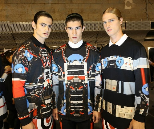 African Inspired Digital Prints at Givenchy S/S 2014