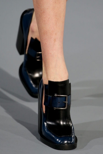 Chunky heels at Jil Sander