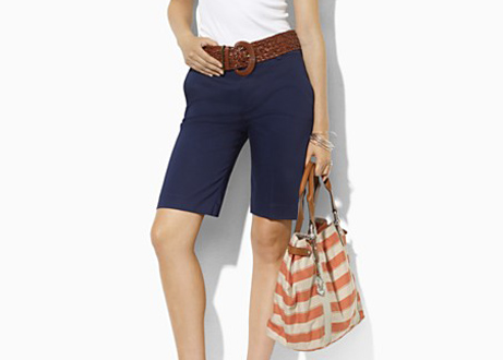 Lauren by Ralph Lauren Huldah Slimming Fit Bermuda Shorts