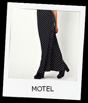 Motel-On-Trend-Maxi-Skirt-Polka-Dots