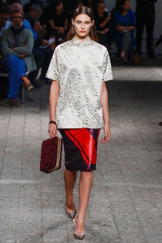 No. 21 emphasized mismatched chic for Spring 2013