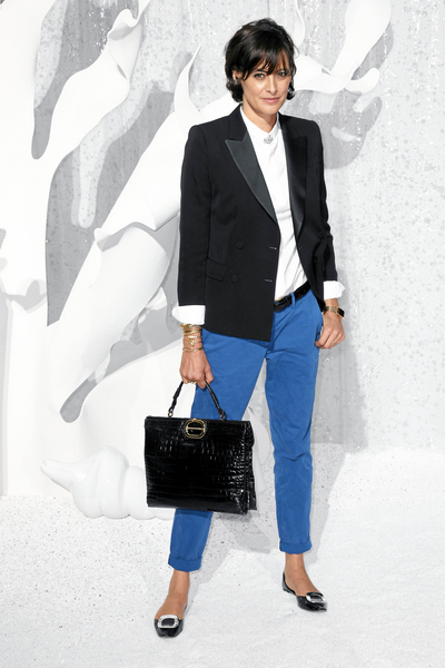 French Chic at a Certain Age: Man-Tailored Jackets in the way Ines de la Fressange works them