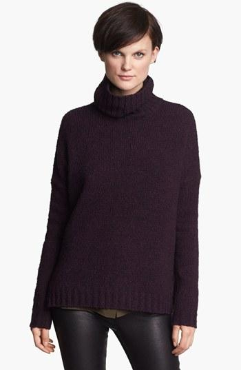 Vince 'Cozy' Turtleneck Sweater Mulberry