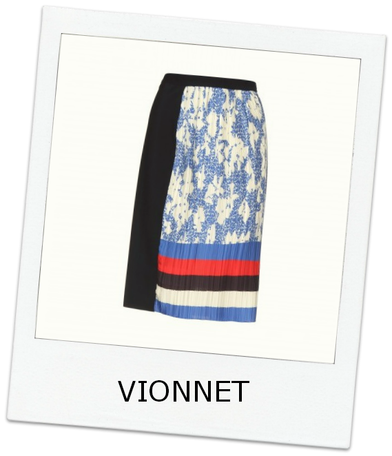 Vionnet-Contrast-Pleated-Skirt-On-Trend-Color-Blocking