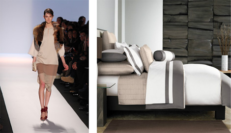 The BCBG runway and some home inspiration by way of the Ampersand Color Block Duvet set.
