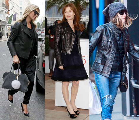 age appropriate black leather jacket