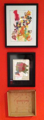 Frame your children's art in gallery frames.