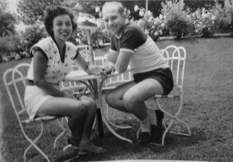 My mom and dad doing the short shorts