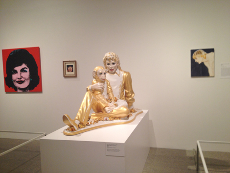 Michael Jackson and Bubbles the Chimp via Jeff Koons