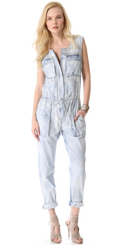 For a more summery take on head-to-toe denim, this  Rebecca Taylor Bleached Denim Jumpsuit is totally fab!