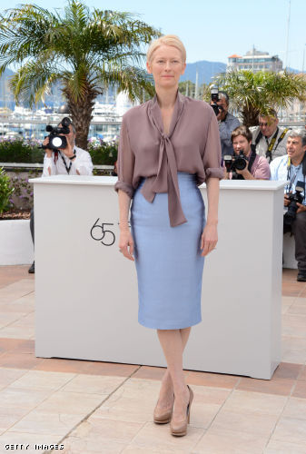 "Tilda Swinton poses at the ""Moonrise Kingdom"" photocall during the 65th Annual Cannes Film Festival"