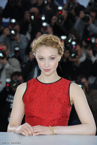 "Sarah Gadon poses at the""Antiviral"" Photo Call during the 65th Annual Cannes Film Festival Palais des Festivals"