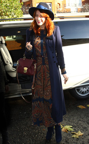 Florence Welch in Mulberry