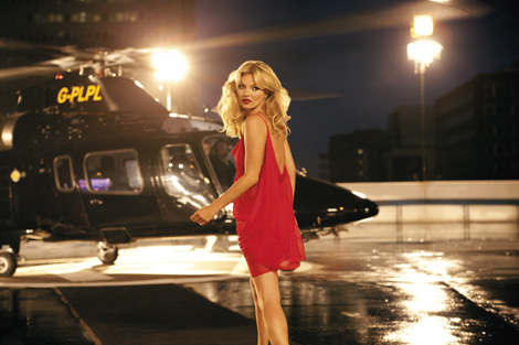 Helicopter Kate Moss