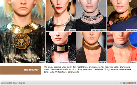 Trend Report: The Choker Necklace is the IT jewelry trend for fall 2011