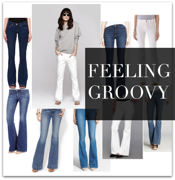 FEELING GROOVY flare bell bottoms