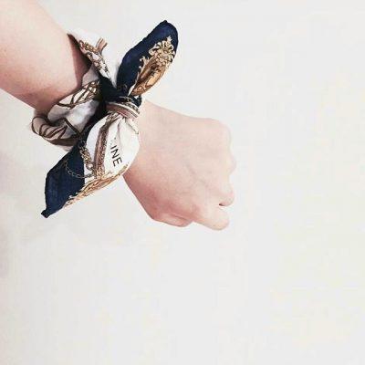 celine-wristlet scarf