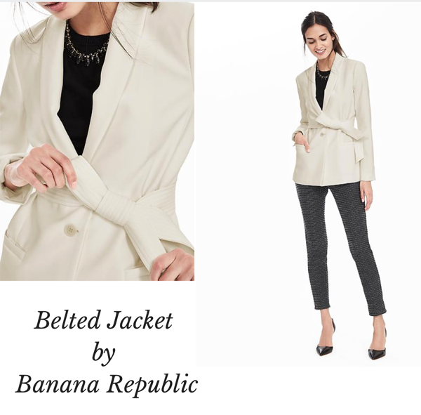 banana republic belted jacket