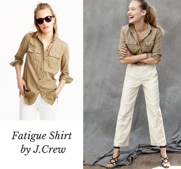 fatique shirt jcrew
