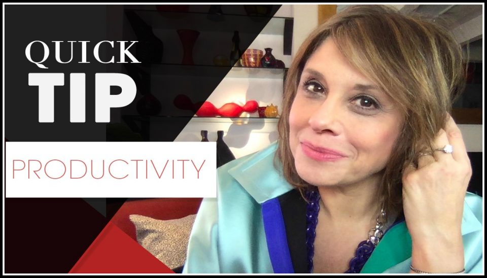 Quick TIp Template F - Productivity -band aid effect