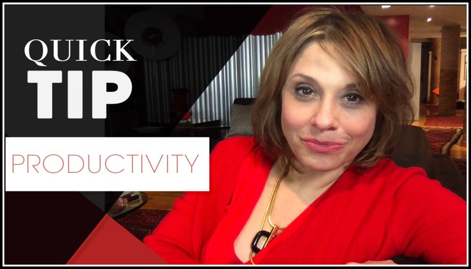 Quick TIp Template F -productivity - slow down
