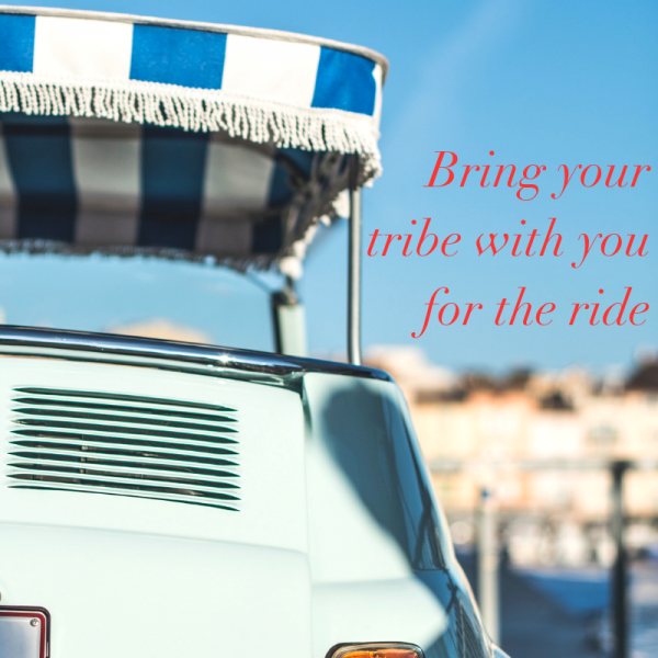 create a bond by bringing your tribe with you for the ride