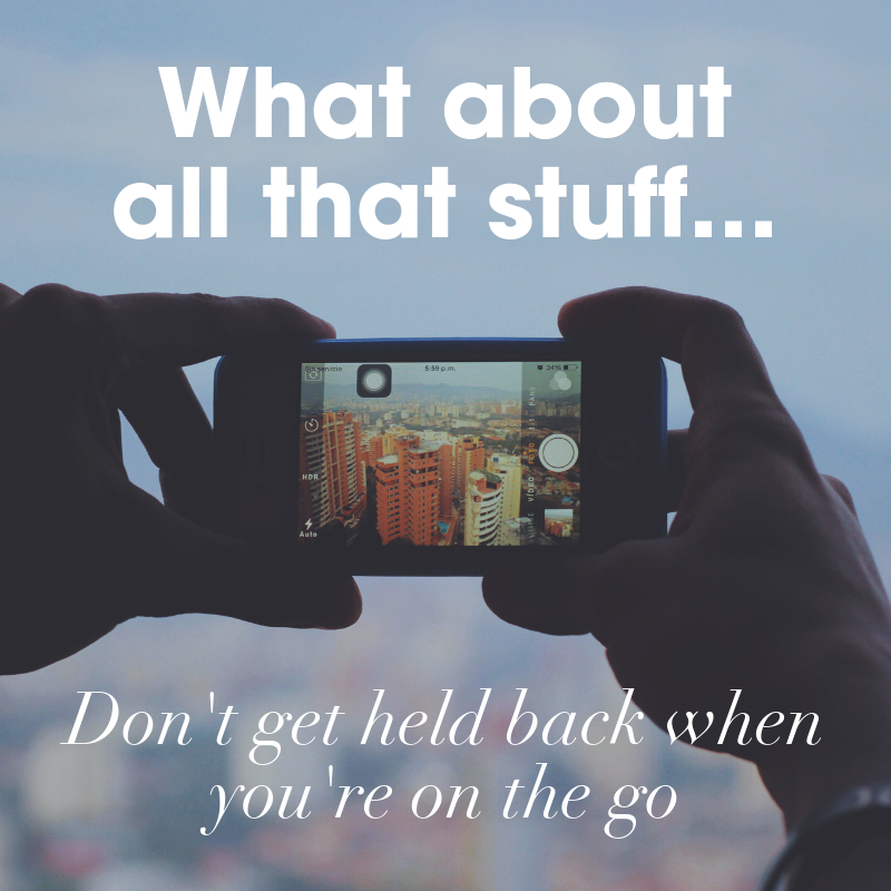What about all that stuff - don't get held back posting content