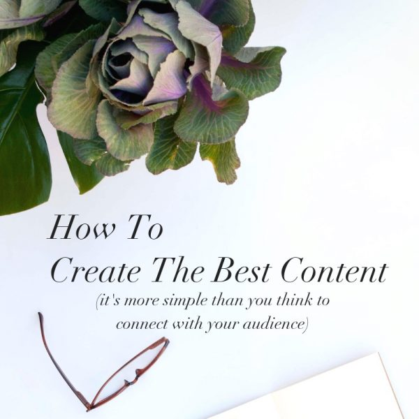 The best content usually starts in the most non-complicated, simplest ways.