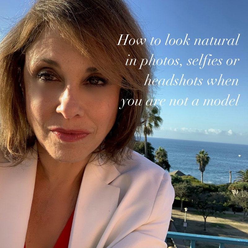 how to look natural in photos, selfies or headshots when you are not a model