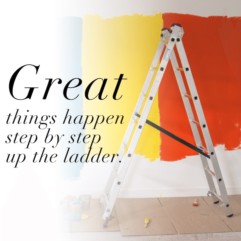 Great things happen step by step up the client value ladder.