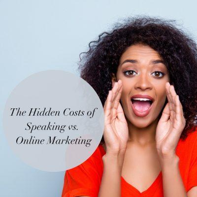 Speaking vs online marketing