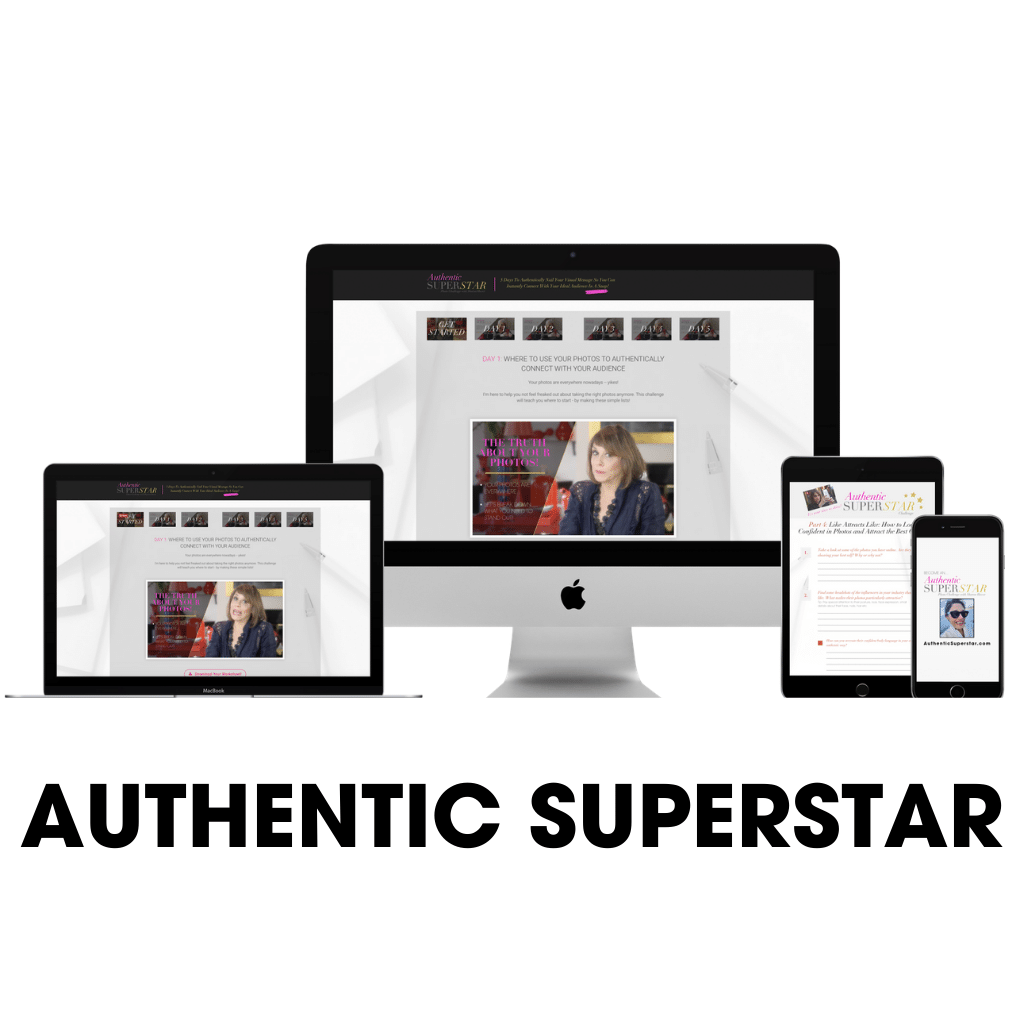 Authentic SuperStar- 5 Day Challenge to Create A Personality Brand With Your Photos