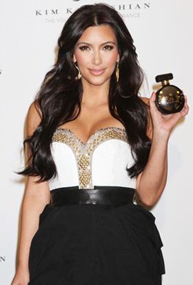 Kim Kardashian hawking her fragrance in Las Vegas