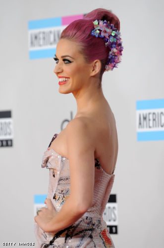 Katy Perry pink hair