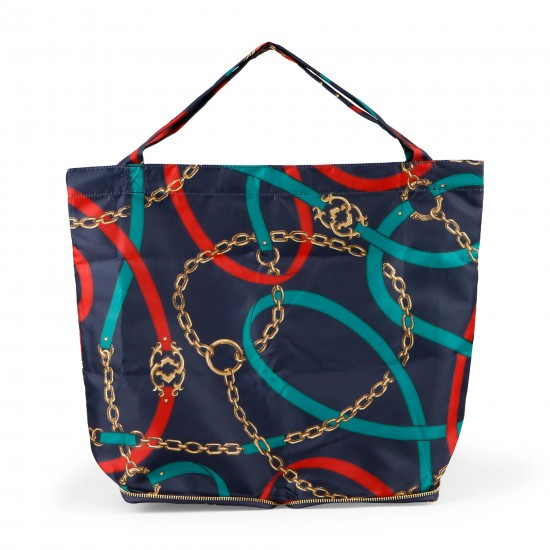 C. Wonder Equestrian Print Pop Up Tote