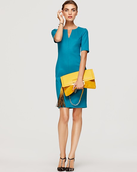 DIANE von FURSTENBERG Dress - Aurora Three-Quarter Sleeve Dress at Bloomingdale's