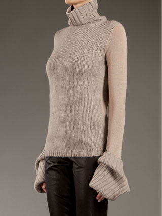 Multi- weight, toasty warm alpaca sweater from Ann Demeulemeester