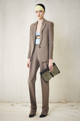 Balenciaga-Resort-2013-Khaki-Suit