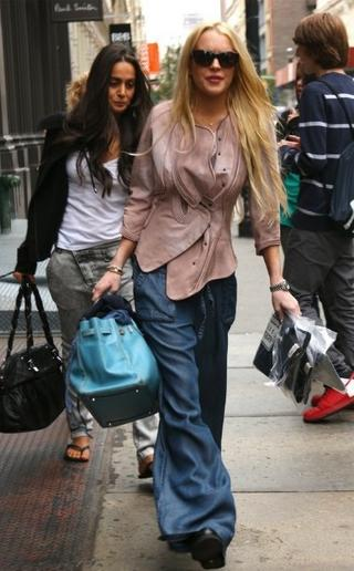 I-ll-have-what-shes-having-Lindsay-Lohan-in-structured-leather-and-baggy-denim