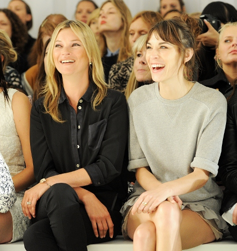 Kate Moss and Alexa Chung at Mulberry Spring 2013