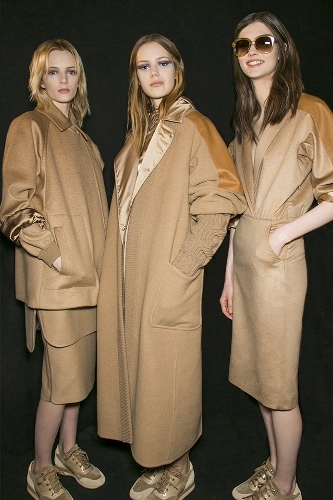 Max Mara backstage Fall 2013